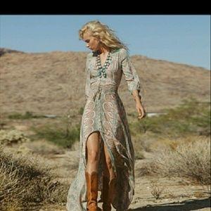 Dresses & Skirts - Bohemian floral print maxi dress Sz-10